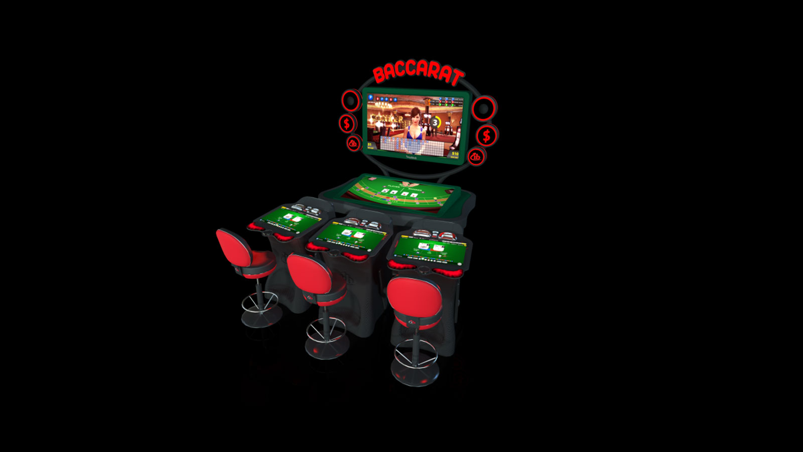 Baccarat e-table