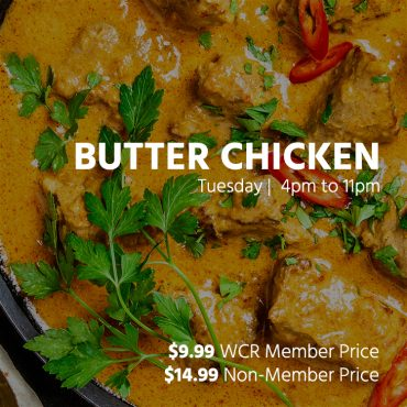 $9.99 Butter Chicken Special