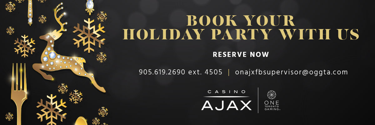 Casino Ajax Holiday gathering Bookings
